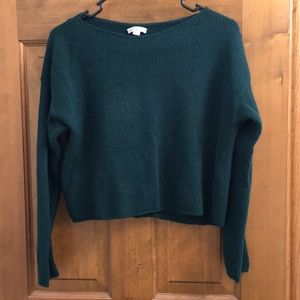 Green sweater, one size (but small)